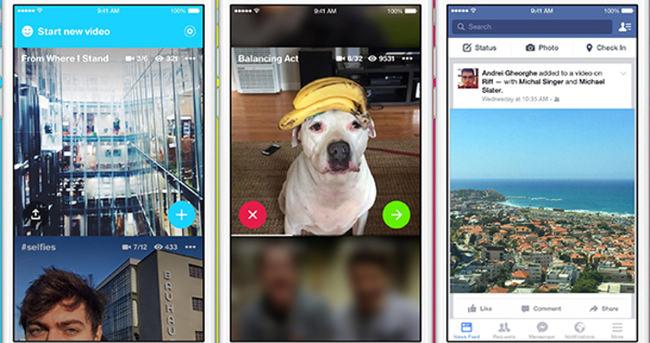 Facebook'un yeni video uygulaması Riff yayınlandı