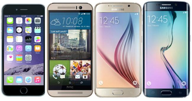 iPhone 6, Galaxy S6 ve One M9'un fiyat karşılaştırması