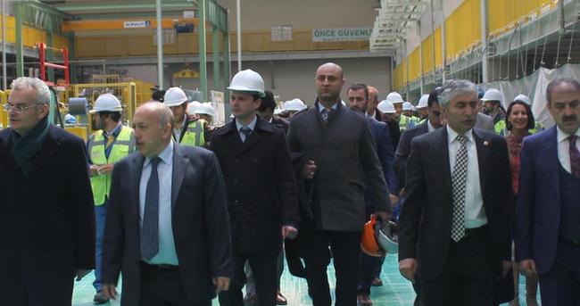 Çankırı'daki lastik fabrikası deneme üretimi yaptı