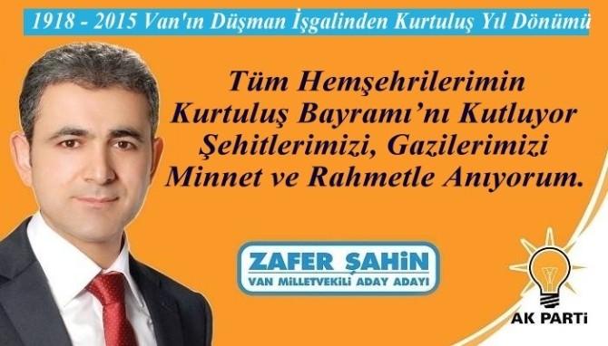 AK Partili Şahin'den Kurtuluş Mesajı