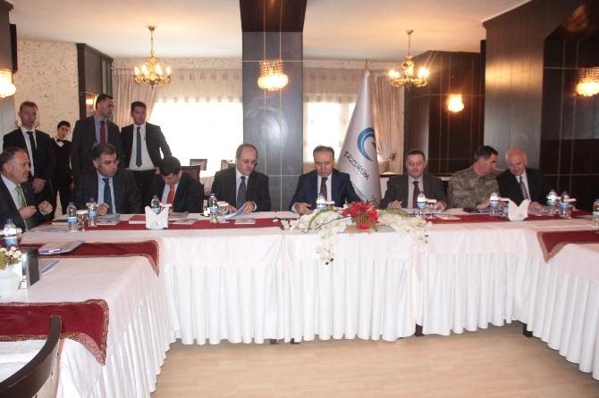 """Erzurum'da """"Seçim Güvenlik Toplantısı"""" Yapıldı"""