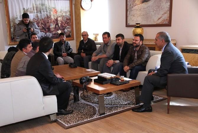 Mardinli Gazetecilerden Vali Koçak'a Ziyaret