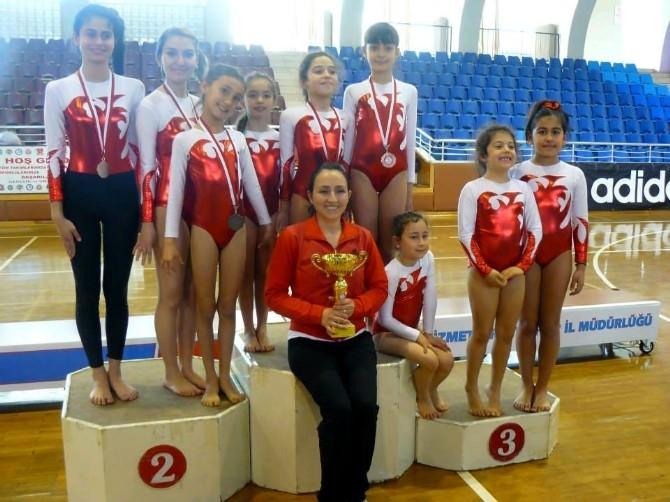 Söke'nin İncilerinden Cimnastikte 5 Madalya 1 Kupa