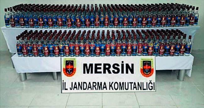 Tarsus'ta kaçak içki operasyonu