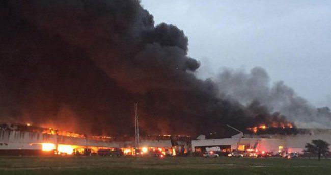 ABD'de elektrik santralinde yangın çıktı