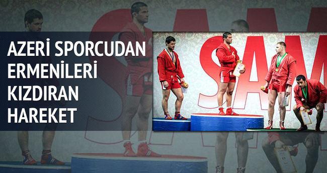 Azeri sporcudan Ermenileri kızdıran hareket