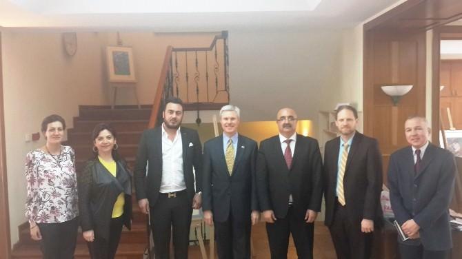 ABD Başkonsolosu Charles Hunter ÇTSO'yu Ziyaret Etti