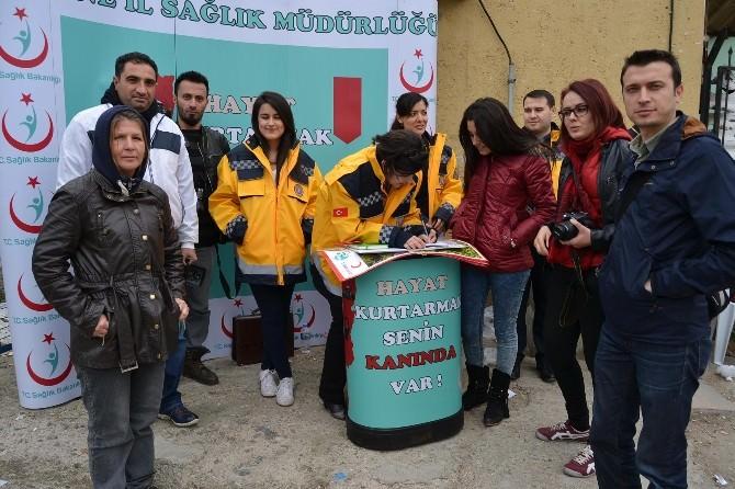 Edirne'de Gönüllü Kan Bağışçılarının İletişim Bilgileri Toplandı