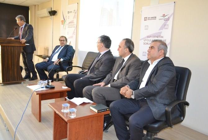 Mardin'de 'Yapı Denetim' Paneli Yapıldı