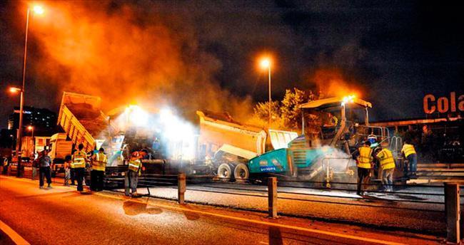 İstanbul'a 2 milyon ton asfalt dökülecek