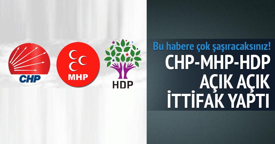 CHP HDP ve MHP ittifak yaptı