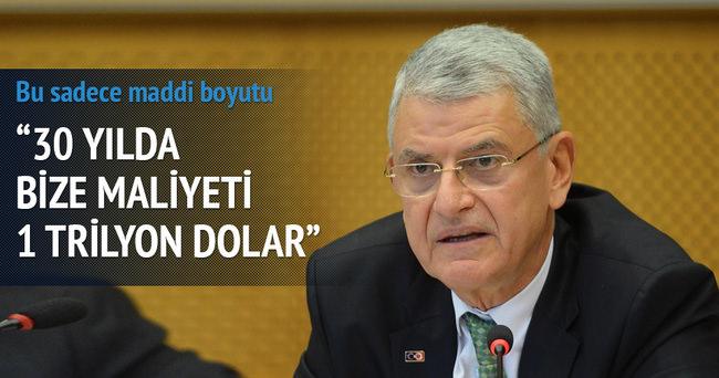 Terörle mücadele Türkiye'ye 1 trilyon dolara mal oldu