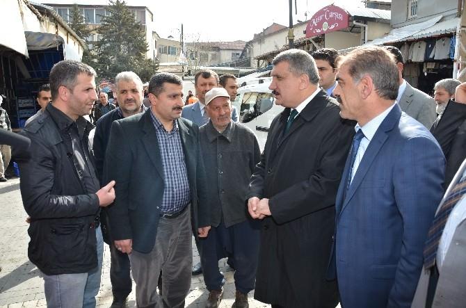 Başkan Gürkan, Kasap Pazarı'nı Ziyaret Etti