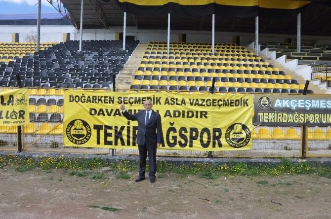 Tekirdağspor Kulübü Başkanı Mustafa Aydoğdu: