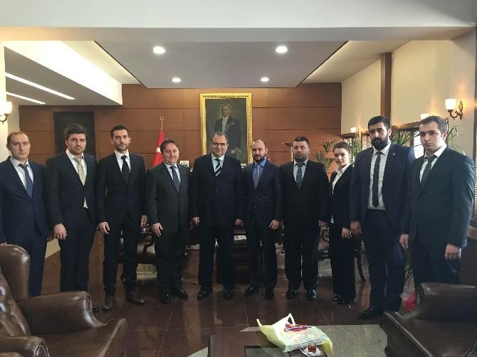 Genç MÜSİAD Zonguldak Şubesi Vali Kaban'a Projelerini Anlattı
