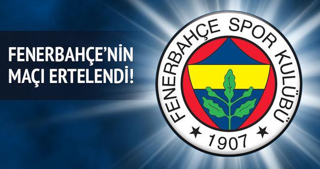 Fenerbahçe'nin hem kupa hem de lig maçı ertelendi