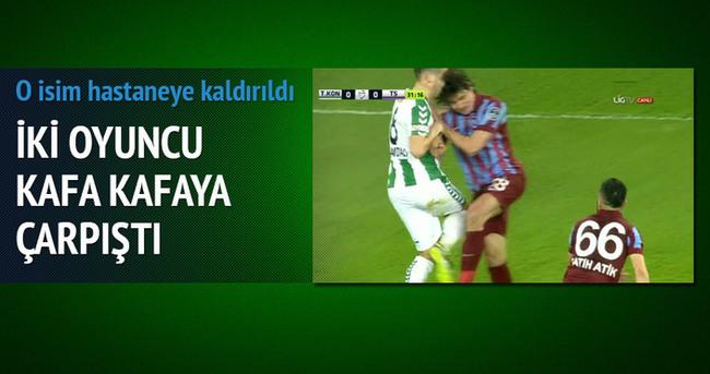 Konya-Trabzon maçında olay!