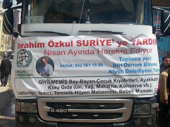 İbrahim Özkul Yardım Tır'ı Suriyeli Yetimler İçin Yola Çıktı