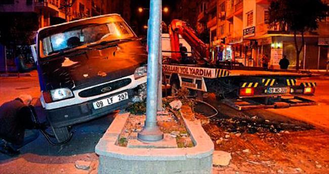 Aydın'da kolu alçılı sürücü alkollü çıktı