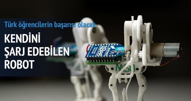 Kendini şarj eden temizlik robotu