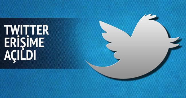 Twitter erişime açıldı