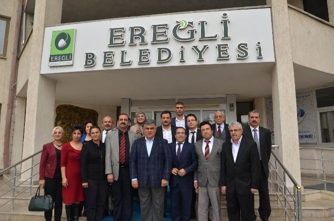 Adana'daki Ereğlililerden Başkan Özgüven'e Ziyaret