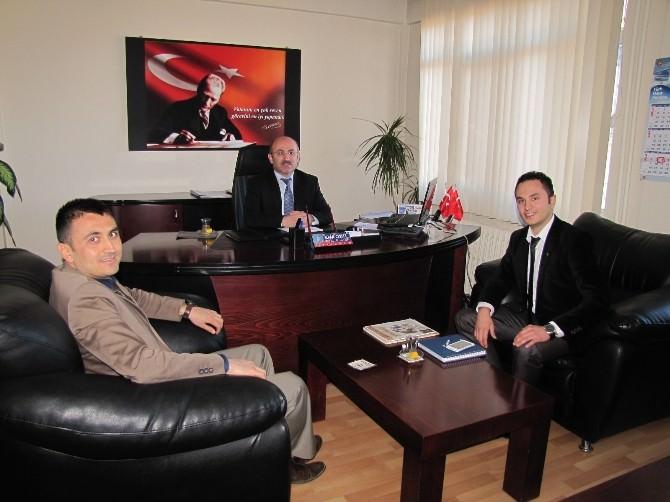 Hisarcık TEMA Vakfı Temsilcileri Müdür Cebeci'yi Ziyaret Etti