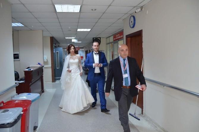 Düğünden Çıkıp Hastaneye Gittiler