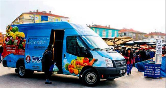 Sincan'da pazar servisleri arttı