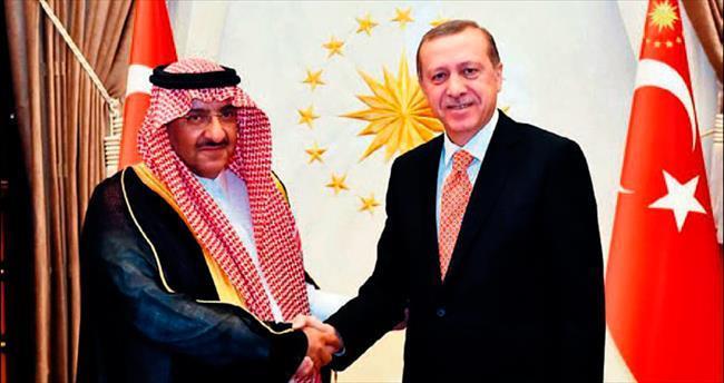 Suudi Veliaht Vekili Naif'i kabul etti