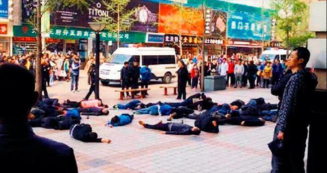 30 taksici toplu intihara kalkıştı