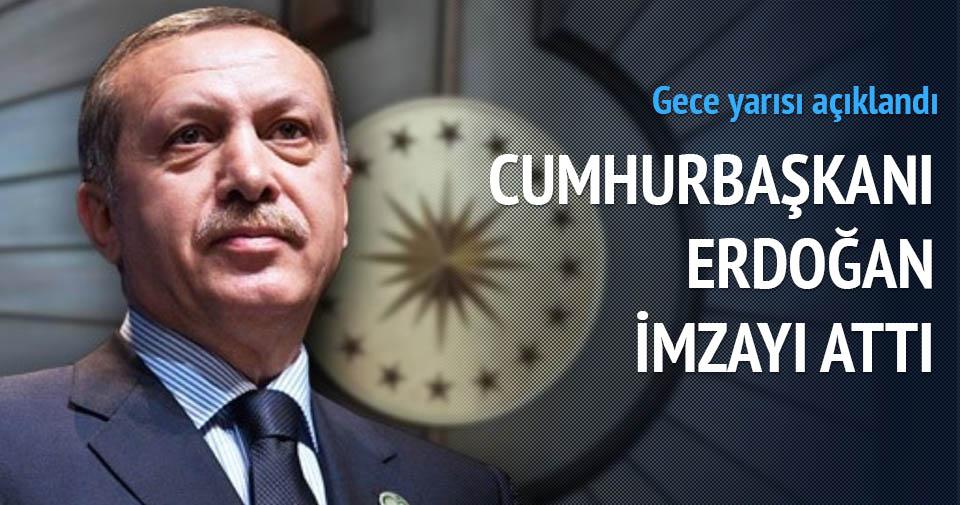 Torba Yasa Cumhurbaşkanı Erdoğan tarafından onaylandı