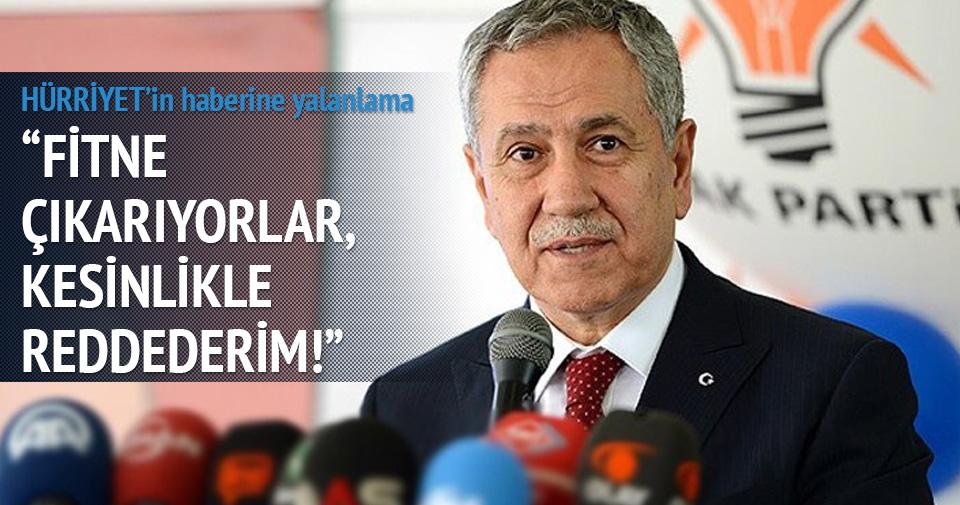 Bülent Arınç'tan Hürriyet'in o haberine yalanlama!