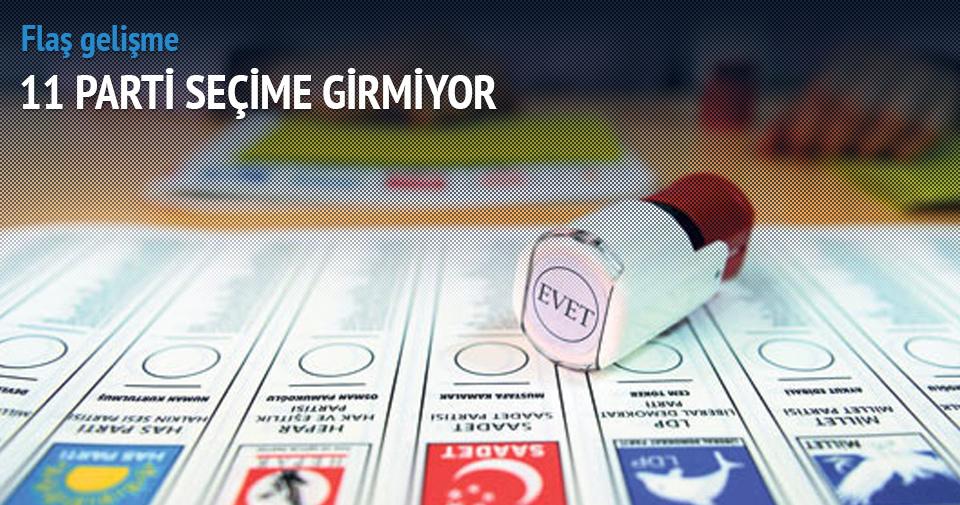 11 parti seçime girmiyor! Oy pusulası değişti
