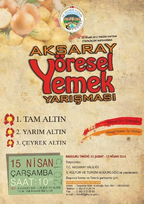 Aksaray'da Yöresel Yemekler Yarışması