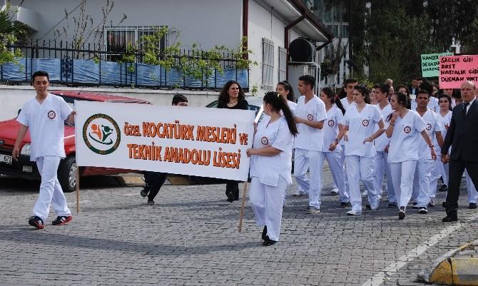 Aydın'da Sağlık Meslek Liseleri Sağlık İçin Yürüdü