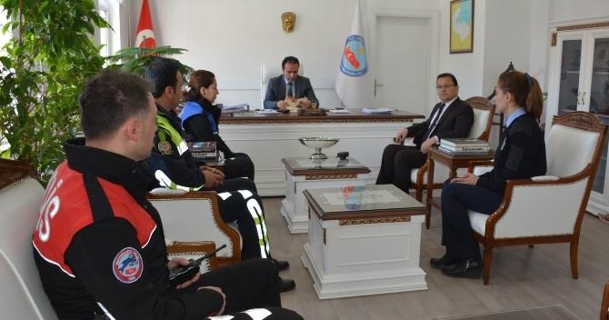 Kaymakam Erkan'a Polis Haftası Ziyareti