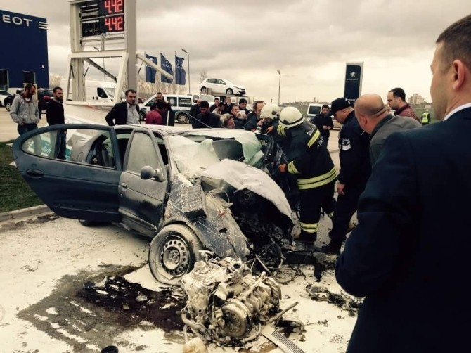 Eskişehir'de Trafik Kazası: 1 Ağır Yaralı