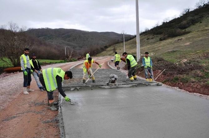 Kandıra'da Üç Köye Beton Yol