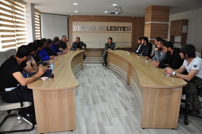 Dersimspor'dan Eşbaşkanlara Ziyaret