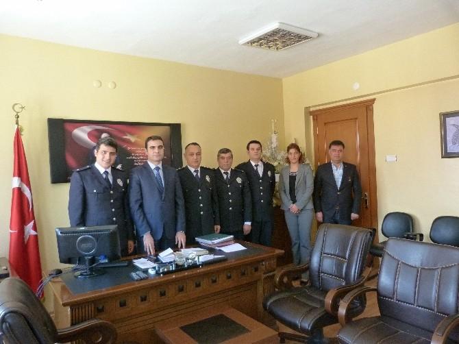 Kaymakam Özçelik'e Polis Haftası Ziyareti