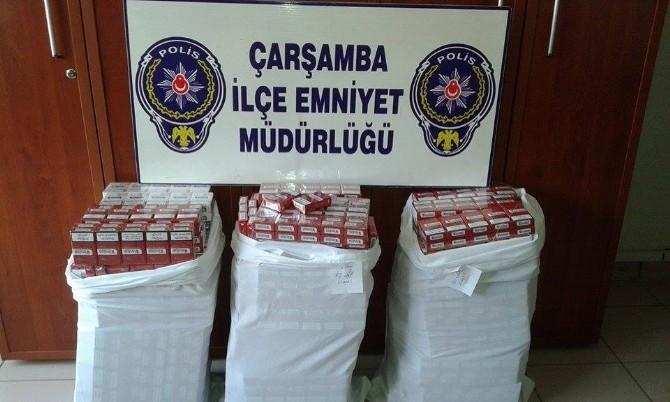 Çarşamba'da Bin 590 Paket Kaçak Sigara Ele Geçti