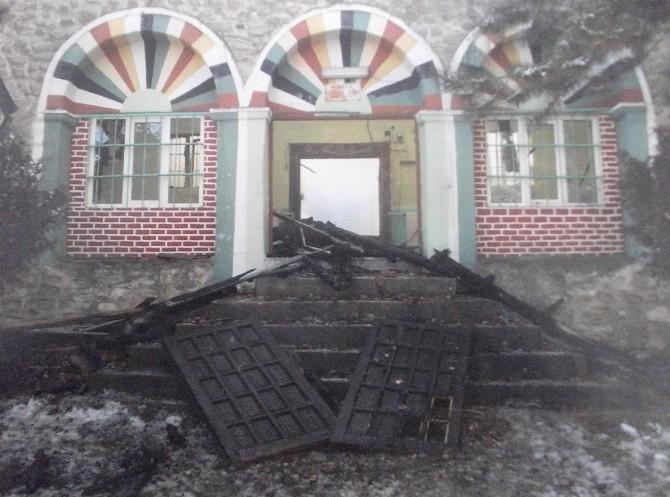Yanan 150 Yıllık Tarihi Cami Onarılıyor
