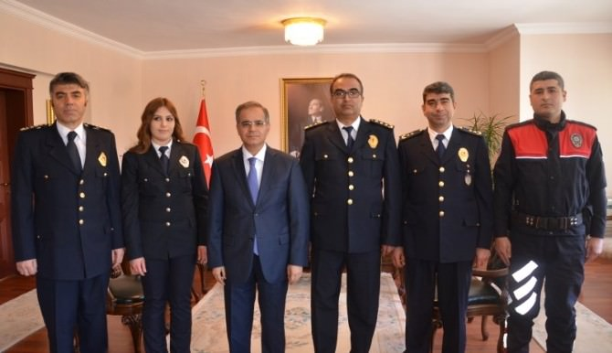Polis Teşkilatından Vali Tapsız'a Ziyaret