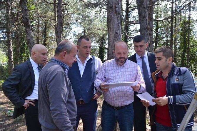 Yavuz Ve Şen Alaplı Yeni Ortaokul Yerini İnceledi