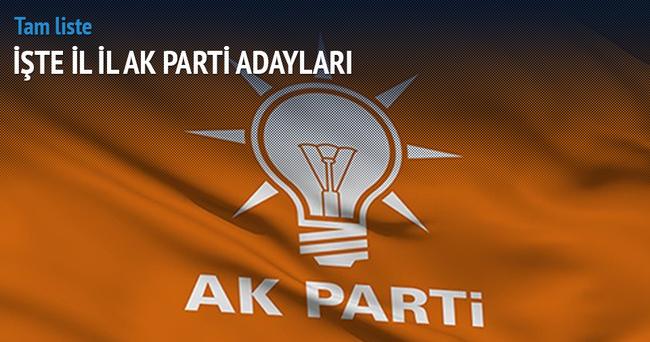 AK Parti adayları belli oldu! İşte o sürpriz isimler!