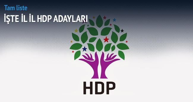 İşte HDP'nin kesinleşen milletvekili adayları listesi