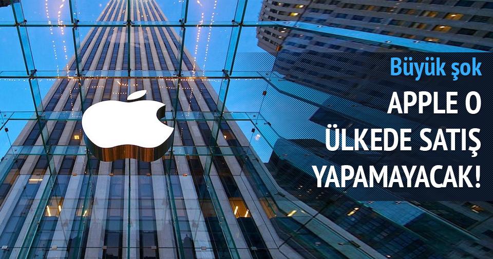 Apple o ülkede satış yapamayacak