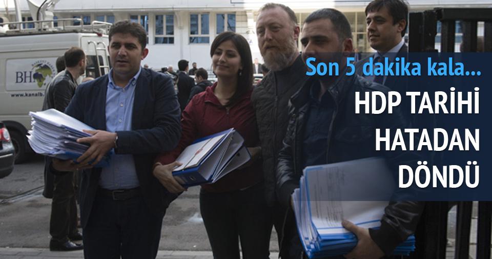 HDP'de tarihi hatadan dönüldü