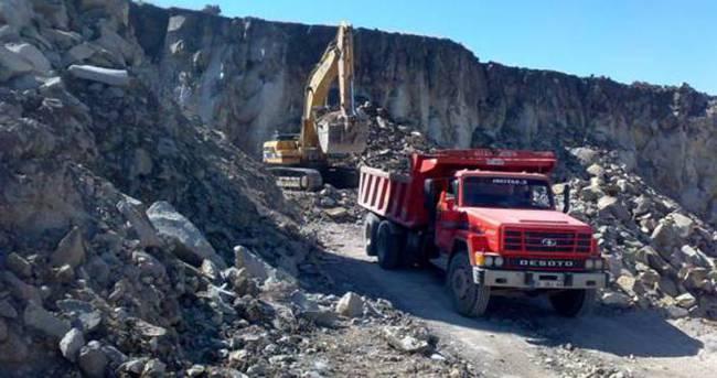 Taş ocağında iş kazası: 1 ölü